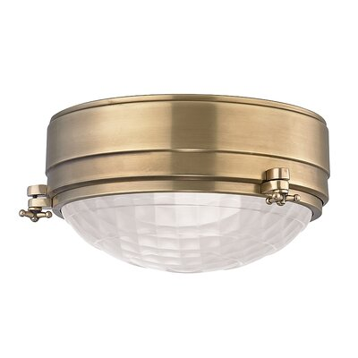 Ezequiel Flush Mount Finish: Aged Brass, Size: 5 H x 9 W