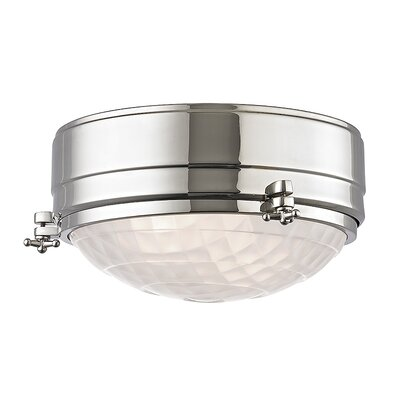 Ezequiel Flush Mount Size: 5 H x 9 W, Finish: Polished Nickel