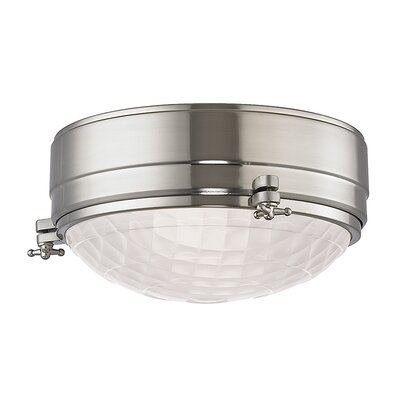 Ezequiel Flush Mount Finish: Satin Nickel, Size: 5 H x 9 W