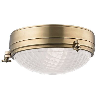 Ezequiel Flush Mount Finish: Aged Brass, Size: 5.75 H x 13 W