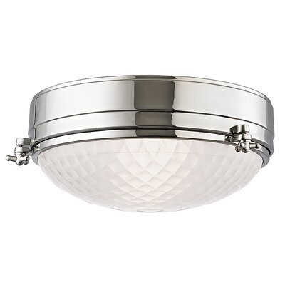 Ezequiel Flush Mount Finish: Polished Nickel, Size: 5.75 H x 13 W