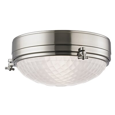 Ezequiel Flush Mount Finish: Satin Nickel, Size: 5.75 H x 13 W