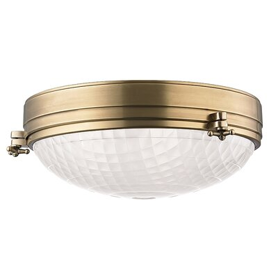 Ezequiel 3-Light Flush Mount Finish: Aged Brass