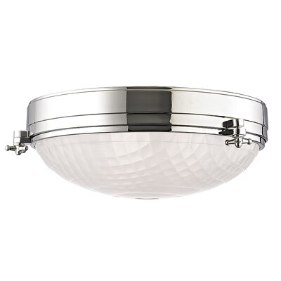 Ezequiel 3-Light Flush Mount Finish: Polished Nickel