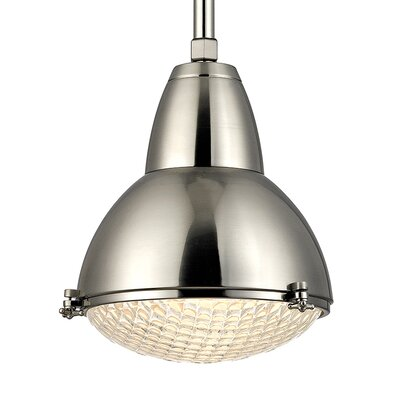 Ezequiel 1-Light Metal Mini Pendant Finish: Satin Nickel, Size: 76 H x 15.25 W