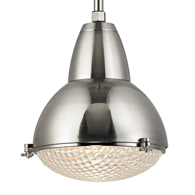 Ezequiel 1-Light Metal Mini Pendant Finish: Satin Nickel, Size: 81.25 H x 20 W