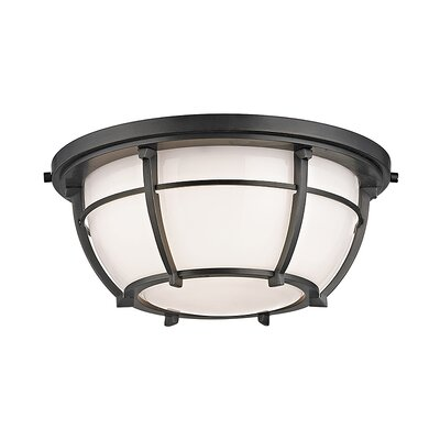 Argie 2-Light Flush Mount Finish: Old Bronze