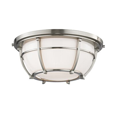 Argie 2-Light Flush Mount Finish: Satin Nickel