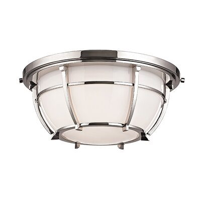 Argie 2-Light Flush Mount Finish: Polished Nickel
