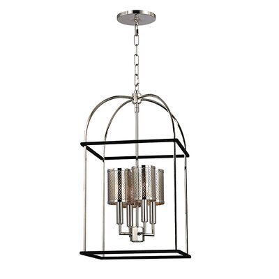 Corbin 4-Light Foyer Pendant Finish: Polished Nickel