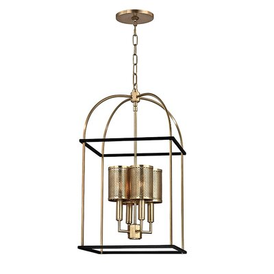 Corbin 4-Light Foyer Pendant Finish: Aged Brass