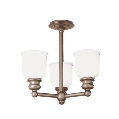 Mindy 3-Light Semi-Flush Mount Finish: Antique Nickel