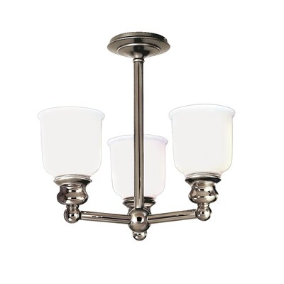 Mindy 3-Light Semi-Flush Mount Finish: Polished Nickel