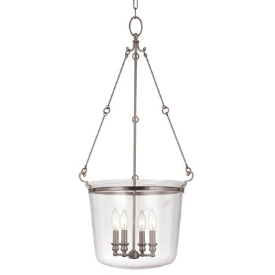Edington 4-Light Foyer Pendant Finish: Historic Nickel