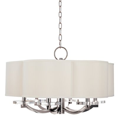 Maya 6-Light Drum Pendant Finish: Polished Nickel