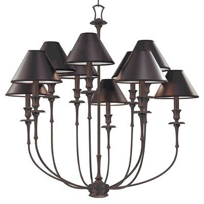 Letendre 10-Light Shaded Chandelier Finish: Old Bronze