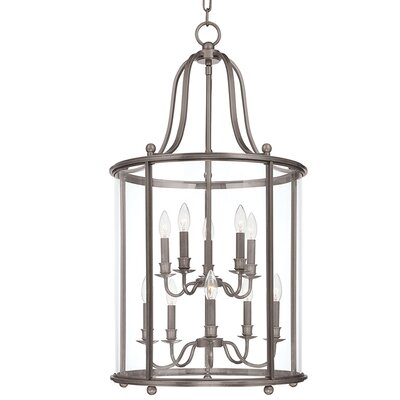 Faun 10-Light Foyer Pendant Finish: Antique Nickel