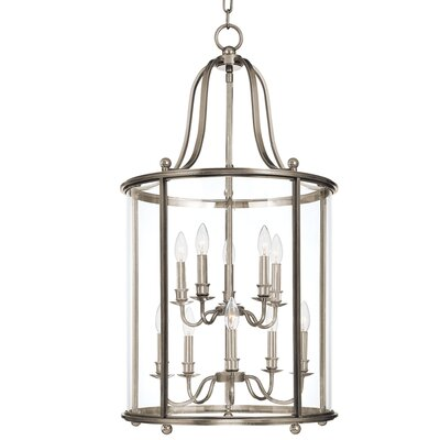 Faun 10-Light Foyer Pendant Finish: Polished Nickel