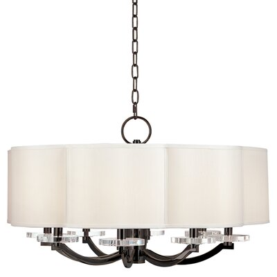Maya 8-Light Shaded Chandelier Finish: Old Bronze