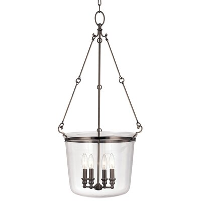Edington 4-Light Foyer Pendant Finish: Old Bronze