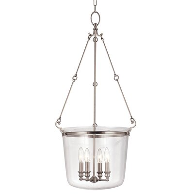 Edington 4-Light Foyer Pendant Finish: Polished Nickel