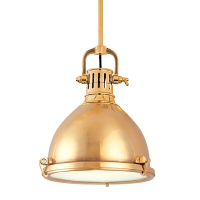 Argana 1-Light Pendant Finish: Aged Brass