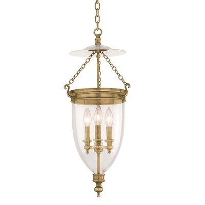 Philipston 3-Light Mini Pendant Color: Aged Brass