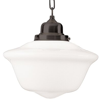 Karen 1-Light Mini Pendant Finish: Satin Nickel, Size: Large