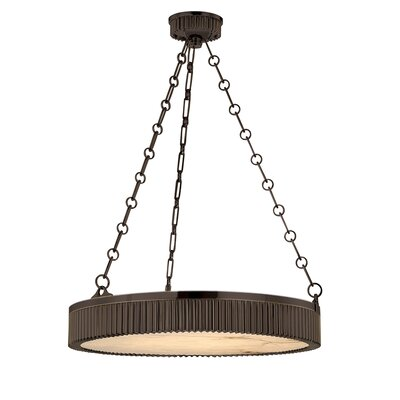 Lynden Drum Pendant Size / Finish: 22 / Distressed Bronze