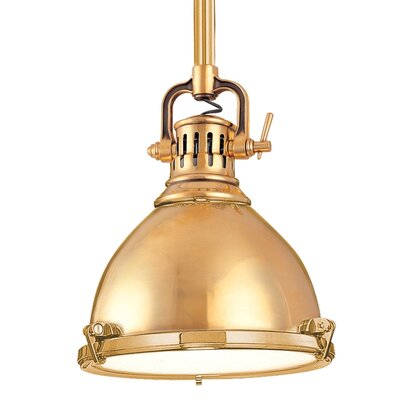 Argana 1-Light Mini Pendant Finish: Aged Brass, Size: 8