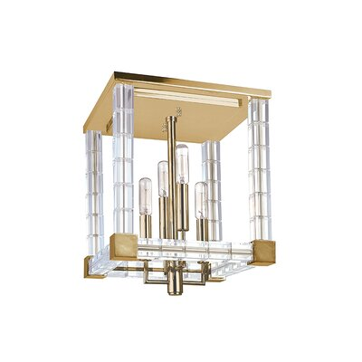 Montauk 4-Light Semi Flush Finish: Aged Brass