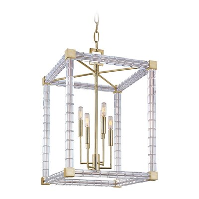 Alpine 6-Light Foyer Pendant Finish: Aged Brass
