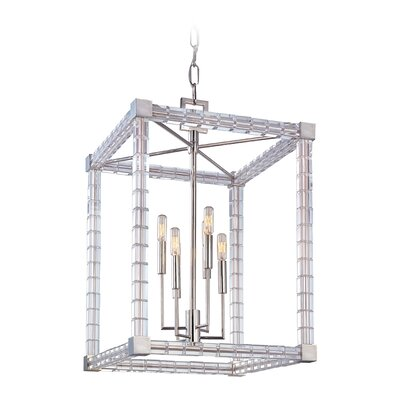 Montauk 6-Light Foyer Pendant Finish: Polished Nickel