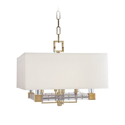 Montauk 4-Light Drum Pendant Finish: Aged Brass