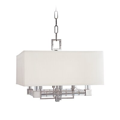 Montauk 4-Light Drum Pendant Finish: Polished Nickel