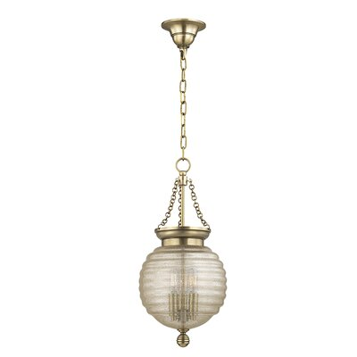 Lazo 1-Light Globe Pendant Finish: Aged Brass, Size: 21 H x 10 W