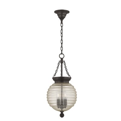 Lazo 1-Light Globe Pendant Size: 21 H x 10 W, Finish: Old Bronze