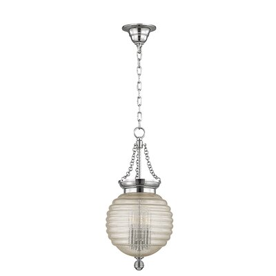 Lazo 1-Light Globe Pendant Finish: Polished Nickel, Size: 21 H x 10 W