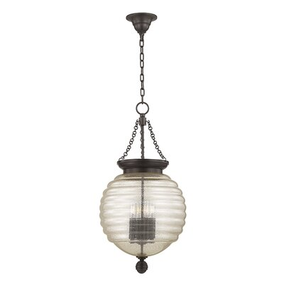Lazo 1-Light Globe Pendant Finish: Old Bronze, Size: 27 H x 14 W