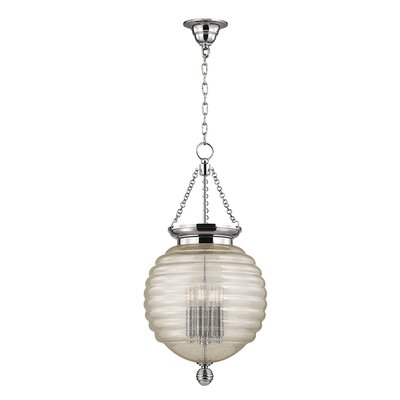 Lazo 1-Light Globe Pendant Finish: Polished Nickel, Size: 27 H x 14 W