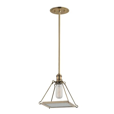 Trevon 1-Light Mini Pendant Finish: Aged Brass