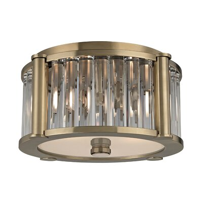 Abdera 2-Light Flush Mount Finish: Aged Brass
