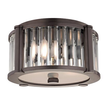 Abdera 2-Light Flush Mount Finish: Old Bronze