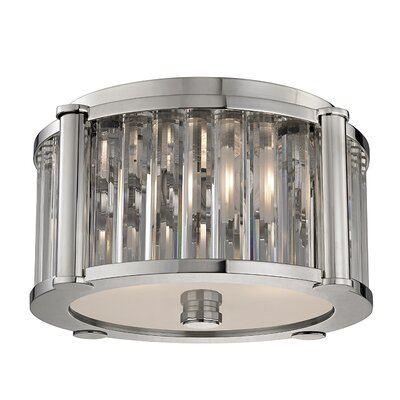 Abdera 2-Light Flush Mount Finish: Polished Nickel