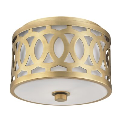 Maspeth 1-Light Flush Mount Finish: Aged Brass