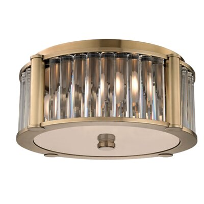 Abdera 3-Light Flush Mount Finish: Aged Brass