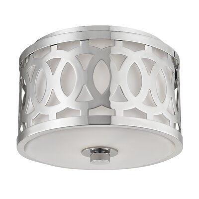 Maspeth 1-Light Flush Mount Finish: Polished Nickel