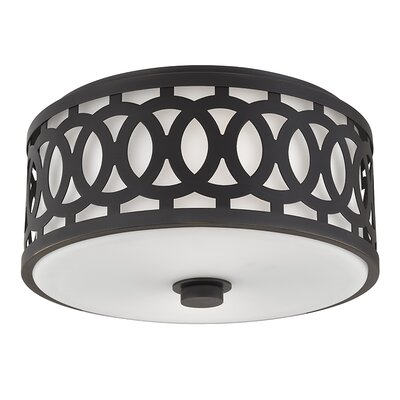 Genesee 2-Light Flush Mount Finish: Old Bronze