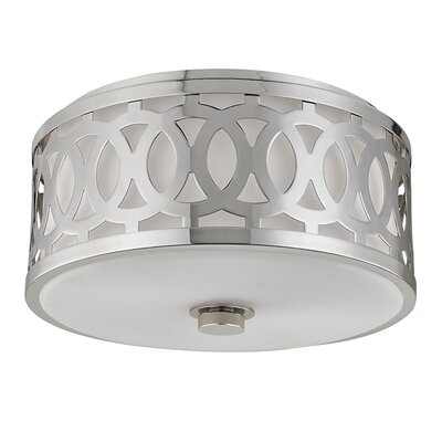 Maspeth 2-Light Flush Mount Finish: Polished Nickel