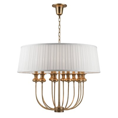 Ellum 12-Light Drum Pendant Finish: Aged Brass